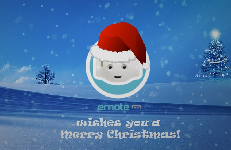 emote robot christmas whishes
